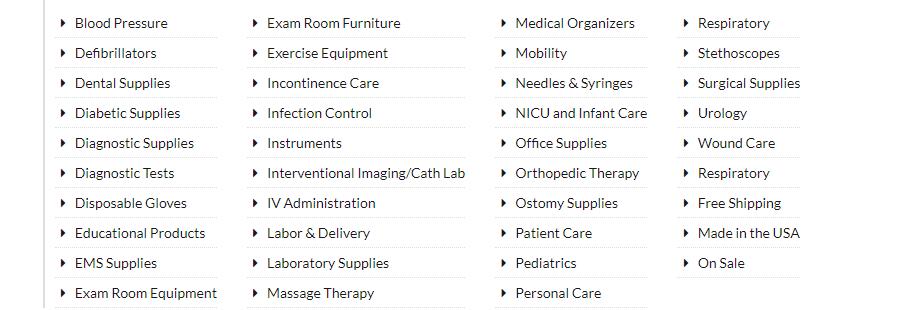 medex-supply-codes